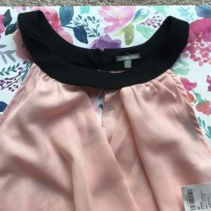 Charolette Russe pink and black top